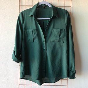Hunter Green Button Down Shirt